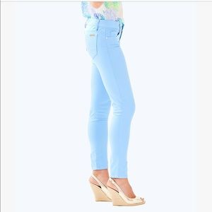 Lilly Pulitzer Worth Skinny Mini Sateen Jeans